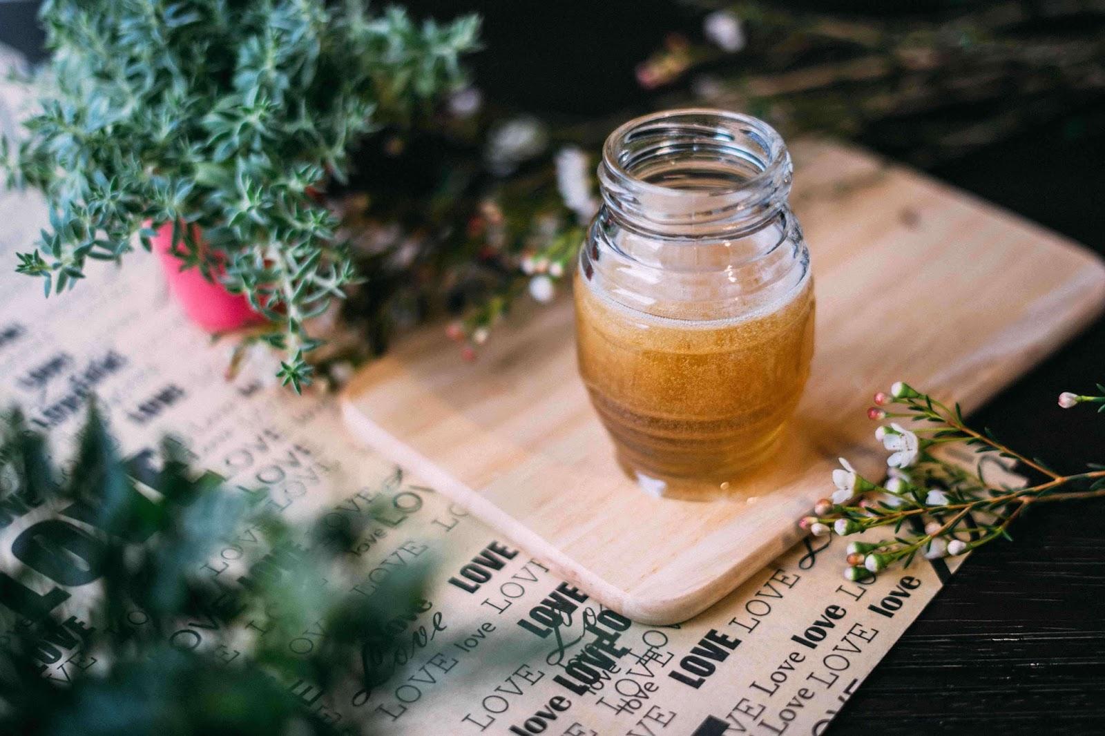 Honig Kokosöl Haarkur selbermachen