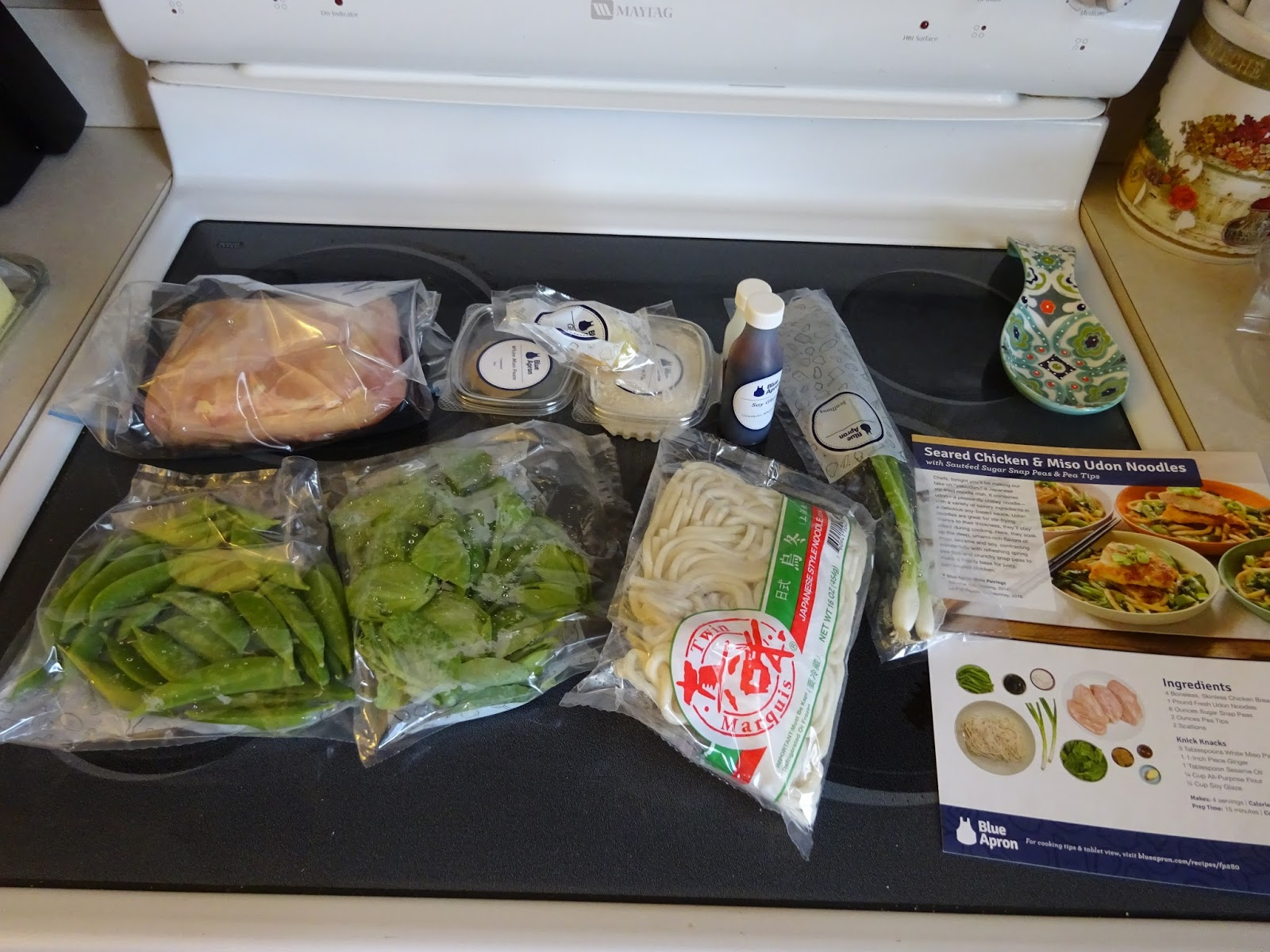 Blue apron udon miso