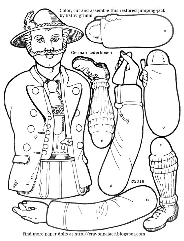 lederhosen coloring page - crayon palace