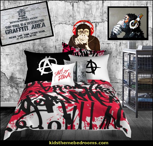graffiti bedroom music  Graffiti wall murals - Urban style punk theme bedroom ideas - skateboarding theme bedroom decorating -  Urban wall Murals - graffiti wallpaper murals - graffiti wall designs - graffiti bedrooms furniture - graffiti wall decal