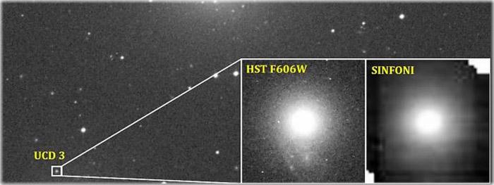 galáxia anã ultracompacta abriga buraco negro gigantesco