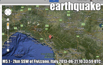 Earthquake in Italy: Tuscany (Massa)
