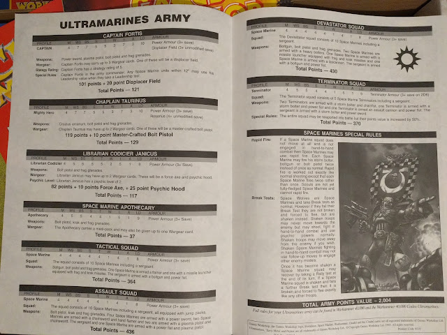 Space Marine Ultramarines Army Box 2000pts 2nd Edition Rules