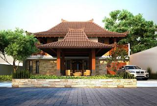 Gambar Desain Rumah Etnik Jawa Modern 3