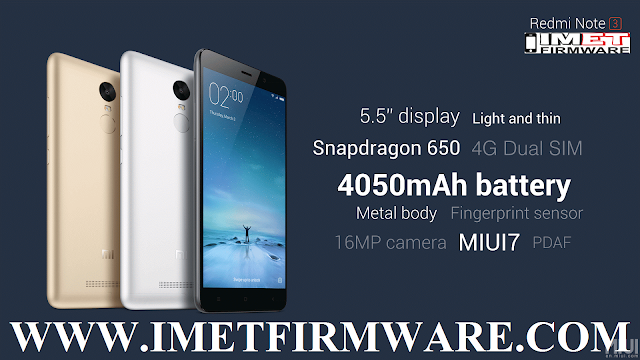 Xiaomi Redmi Note Prime Flash File Firmware Stock Rom - IMET