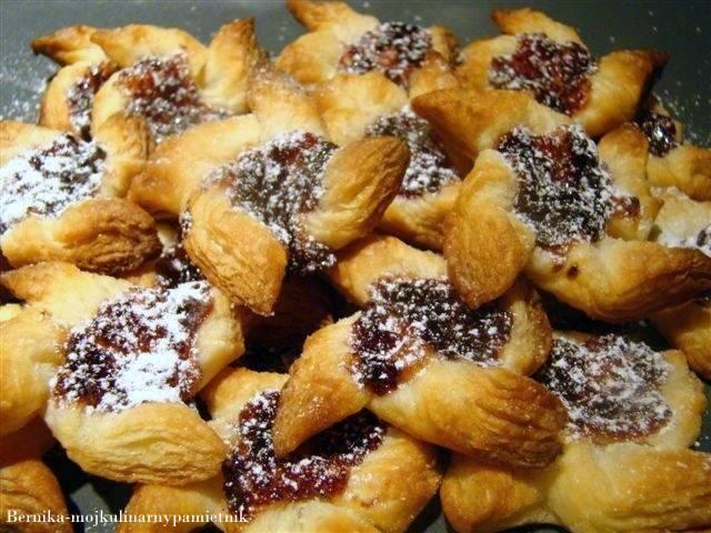 Joulutorttu, ciastka, Finlandia, deser, ciasto francuskie, bernika, kulinarny pamietnik