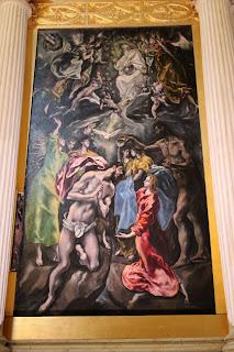 Bautismo de Cristo. El Greco