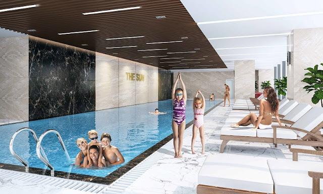 Bể bơi bốn mùa với thiết kế sang trọng