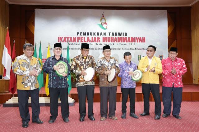 PELAJAR MUHAMMADIYAH  - Gubernur Kalsel H Sahbirin Noor menghadiri  Tanwir Ikatan Pelajar Muhammadiyah 2018,  berlangsung di Mahligai Pancasila, Banjarmasin, Jumat (2/2) sore .