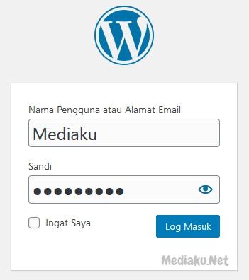 Cara Login Halaman Admin Di Blog WordPress