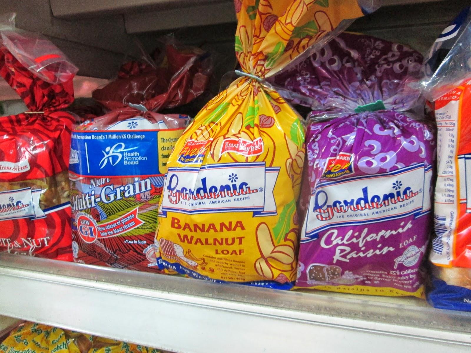 ผลการค้นหารูปภาพสำหรับ ขนมปังการ์ดิเนีย รสกล้วย กับข้าวโพด สิงคโปร์