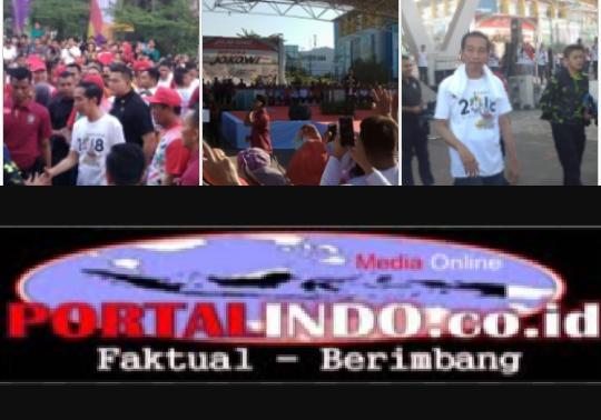 Berkunjung Ke Sulsel:Presiden RI Hadiri Jalan Sehat DiSulsel,Berikut Pesan Yang Di sampaikan