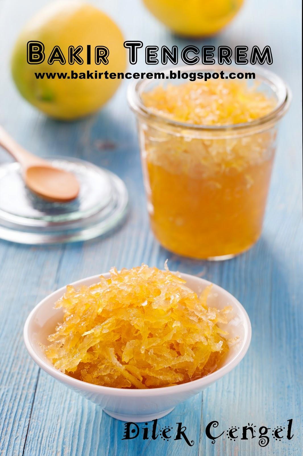 Limondan reçel nasıl pişirilir