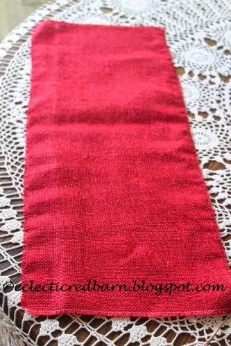 Eclectic Red Barn: Red felt for banner