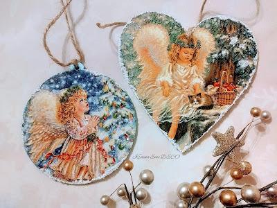 Anioły na świątecznych zawieszkach