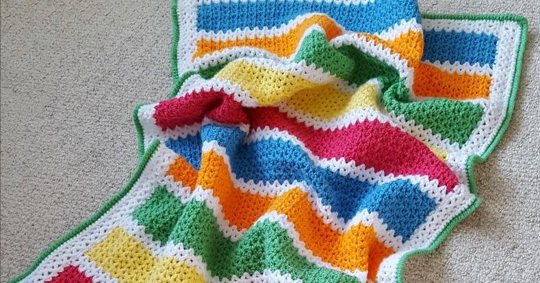 Dinki Dots Craft V Stitch Crochet Baby Blanket