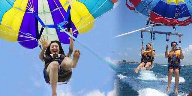 5 Tips Kegiatan Seru Menikmati Liburan di Pantai, Bermain Parasailing di Tanjung Benoa, Bali
