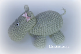 free crochet pattern animal hippo