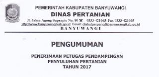 Lowongan Kerja Non PNS Kantor Dinas Pertanian Tahun 2017
