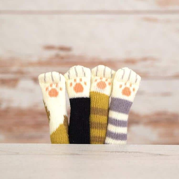 Cute Cat Paw Chair Socks Designed To Protect The Floor