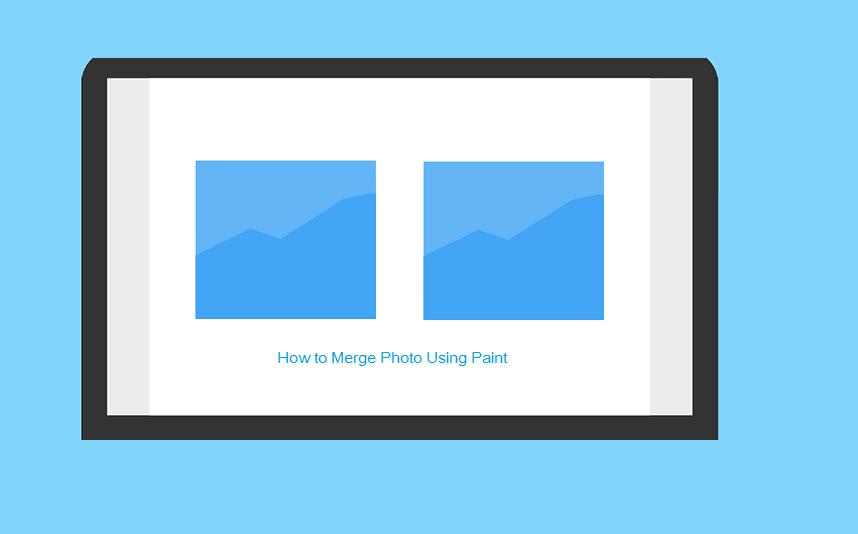 Cara menggabungkan foto dengan Paint