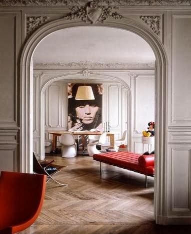chaise longue modelo barcelona en rojo