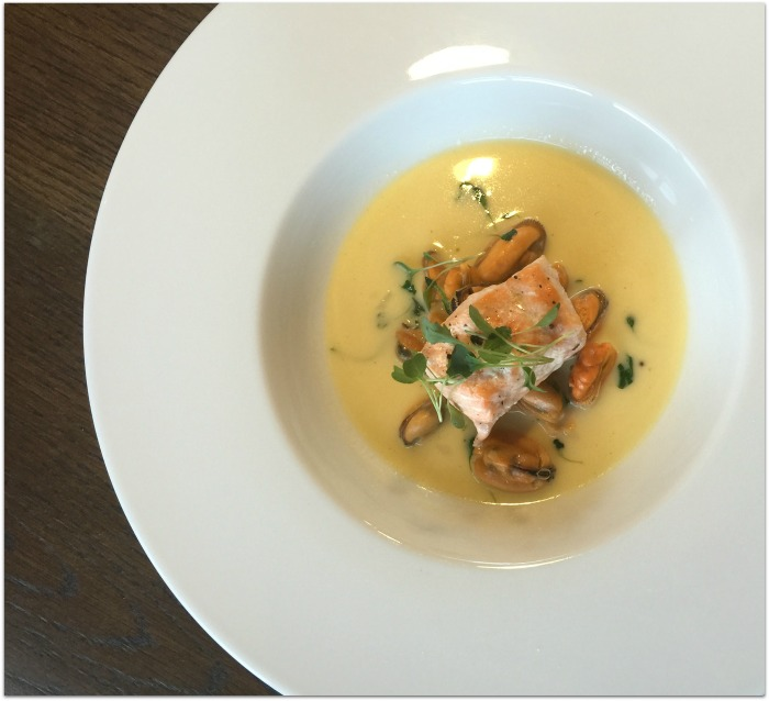 Peached salmon starter The Chef's Table Delphi Resort Connemara Food and Wine Series Summer 2016