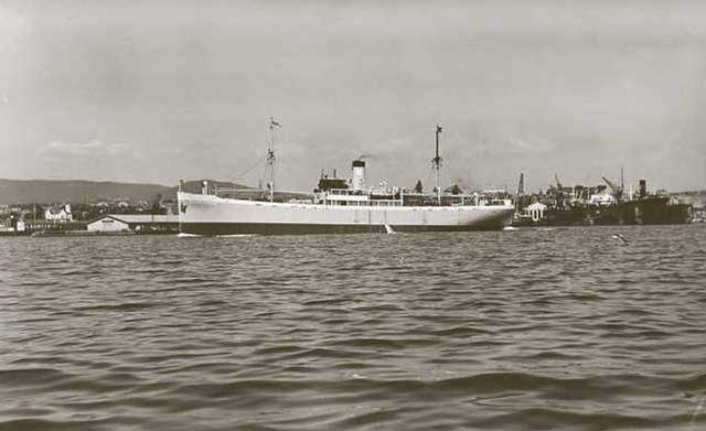 Norwegian freighter William Hansen, sunk by U-754 on 22 January 1942 worldwartwo.filminspector.com