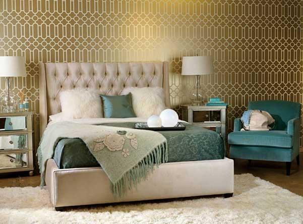 Decoraci n dormitorios 45 dormitorios con papel tapiz - Papel para dormitorio ...