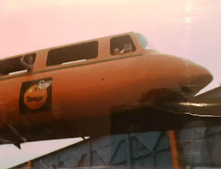 Riding the monorail at Butlin's Somerwest World in Minehead