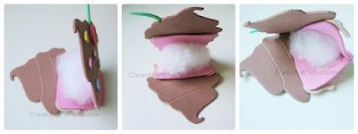 rellenando el cupcake