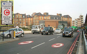 congestion charge route