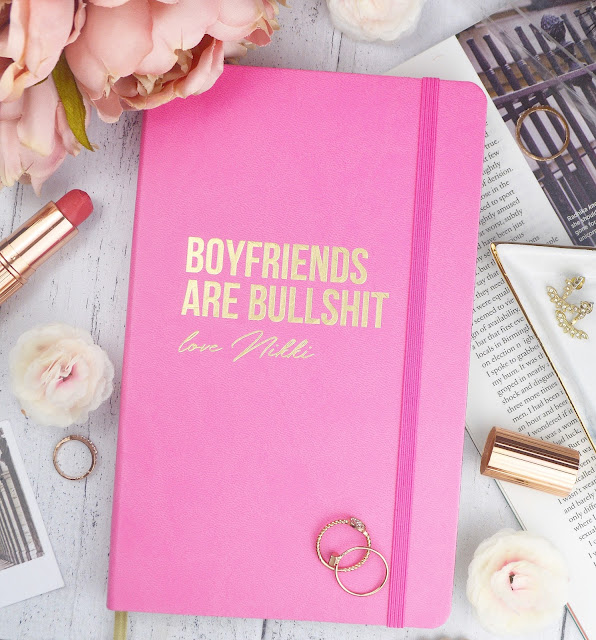 Prezzybox Boyfriends Are Bullshit personalised pink notebook, Lovelaughslipstick Blog