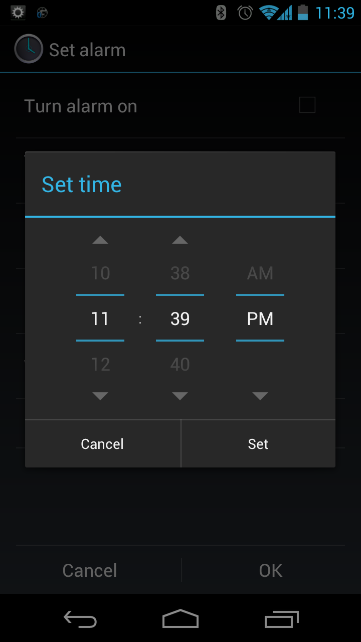 manki's weblog: Setting alarms on Android using Google Voice Actions