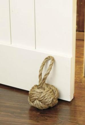Heart Maine Home: Rope knot bookend {DIY}