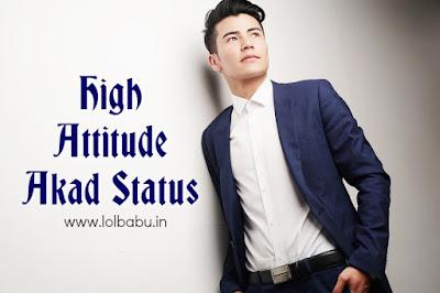 Akad Attitude Hindi Status in Hindi