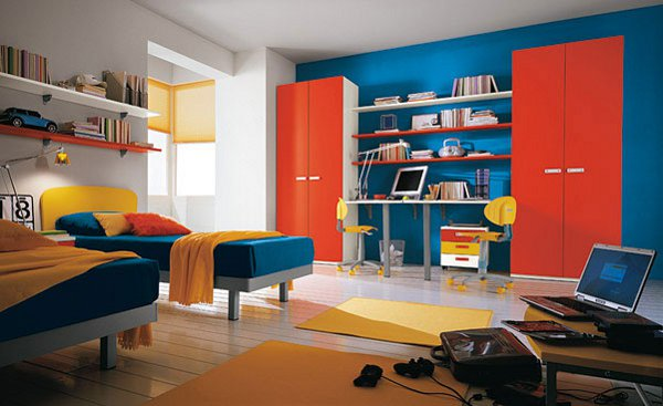 Complementary Colors Room Split Colour Scheme