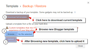 How to easily restore or backup your Blogger template