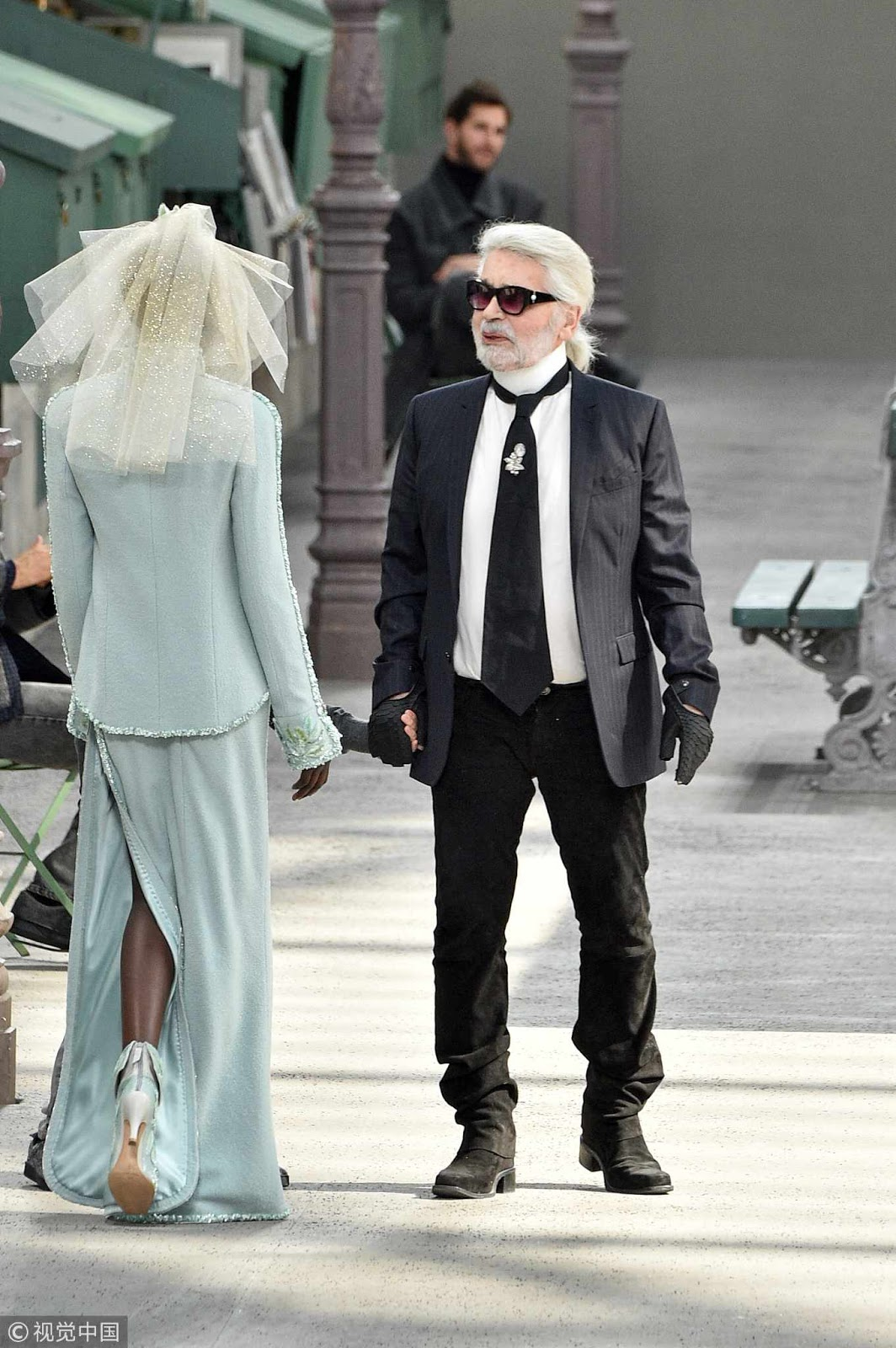 Legendary designer Karl Lagerfeld reaches for immortality with Chanel Paris show