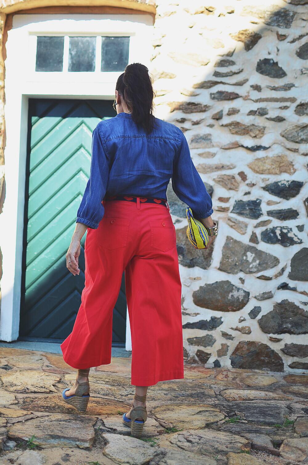 Wide leg pants street style