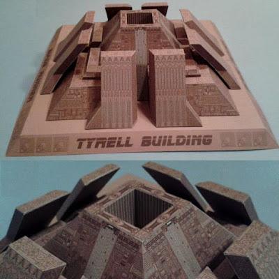 Blade Runner Tyrell Building Paper Model