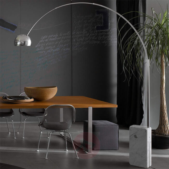 Arc lamp, Flos Arc model, designed in 1962 by Achille and Pier Giacomo Castiglioni