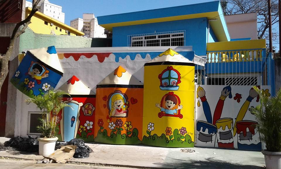 Populares Arte Poesia Decoração Cenografia: Inicio de decoração da fachada  FQ93