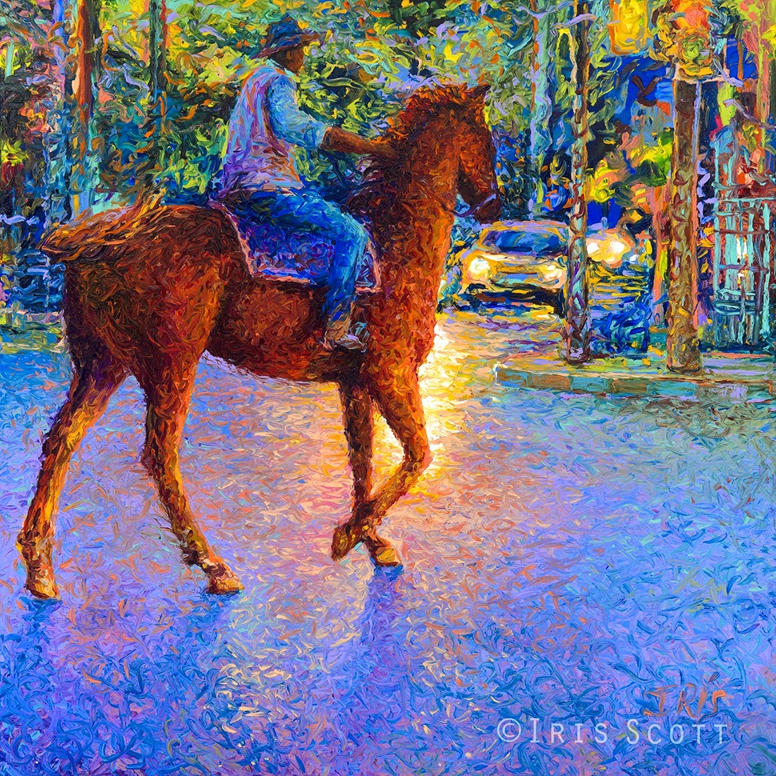 05-My-Thai-Cowboy-Iris-Scott-Finger-Painting-Fine-Art-www-designstack-co