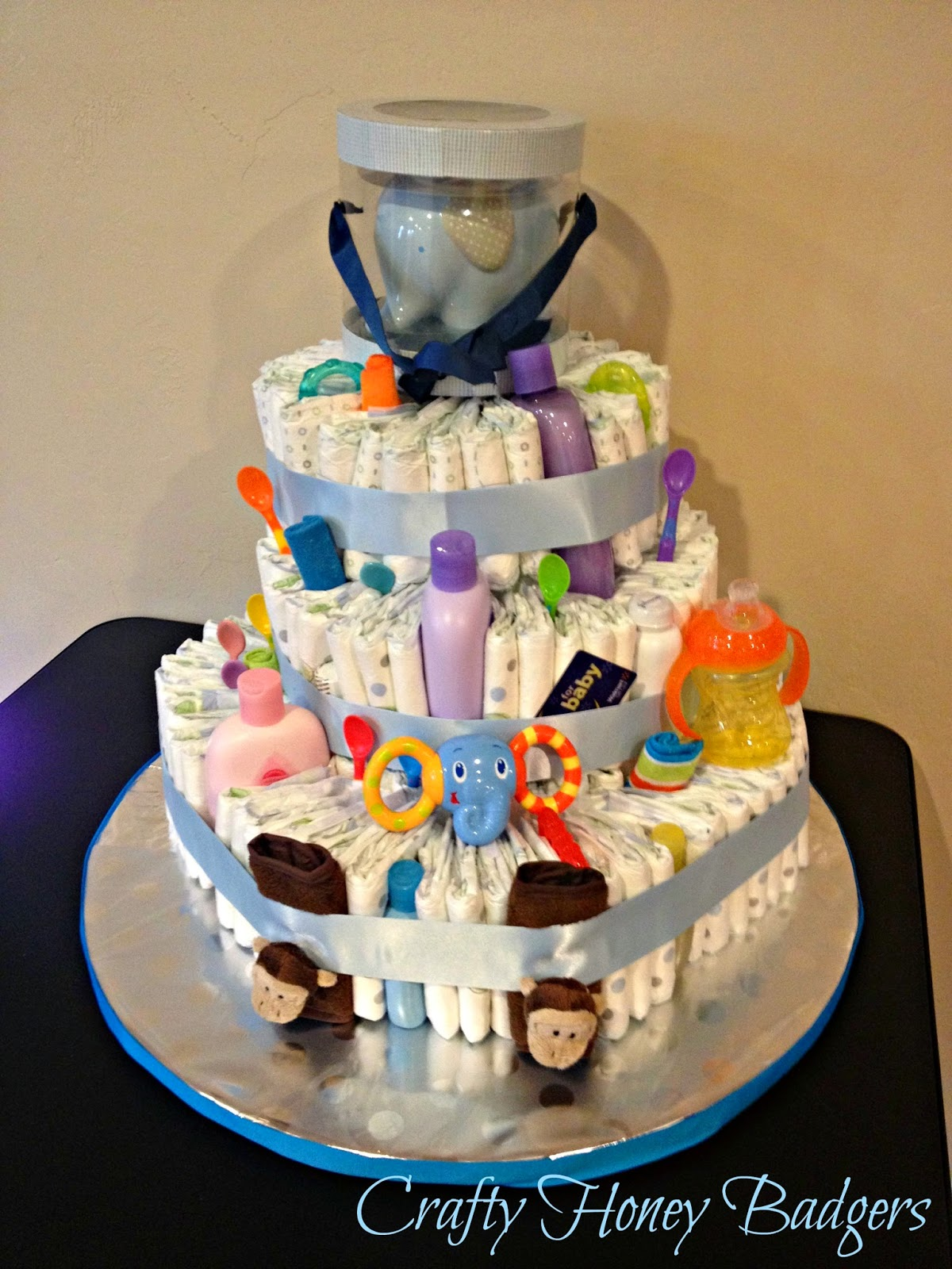 Different Ways To Make A Diaper Cake