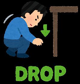 シェイクアウト訓練のイラスト(Drop)