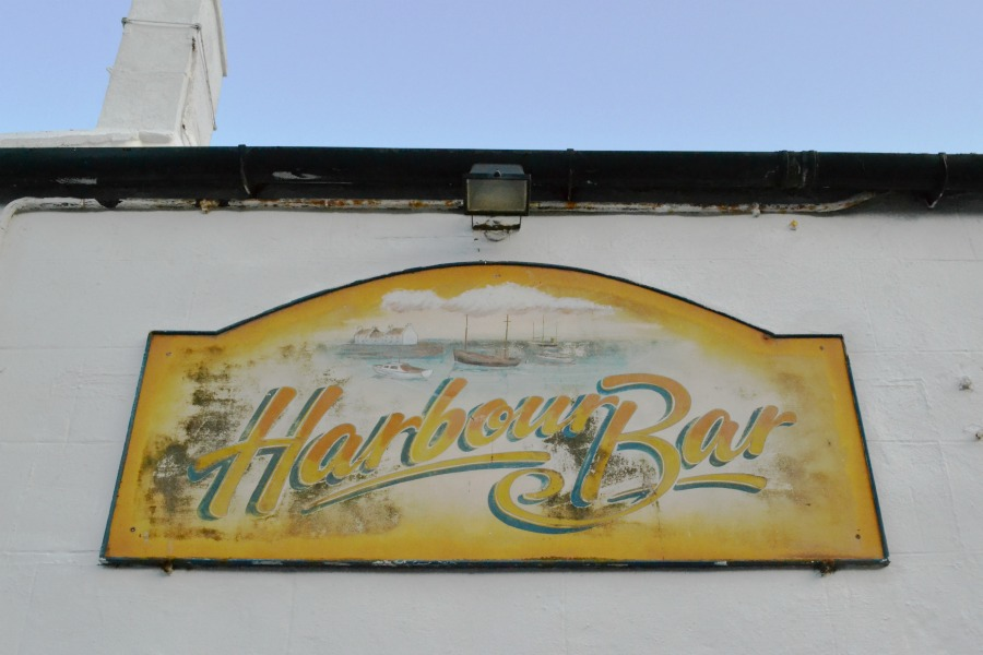 retro vintage sign harbour bar gourdon scotland angus coastal route seaside