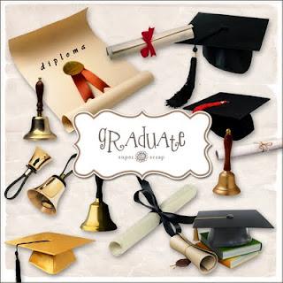 Imágenes para fotomontajes de elementos utilizados por graduandos