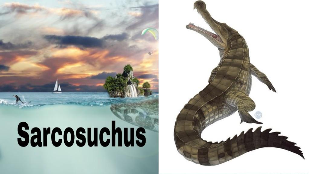 ये हे दुनिया का सबसे बड़ा मगरमच्छ जो डायनासोर को भी खा जाते थे |Largest Prehistoric Crocodile Sarcosuchus