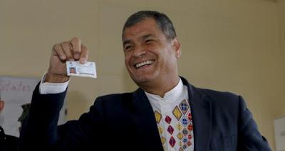Correa dice hay encuestas que dan triunfo en una vuelta a oficialismo en Ecuador
